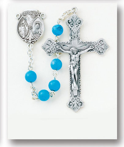 Turquoise Finished Howlite Rosary