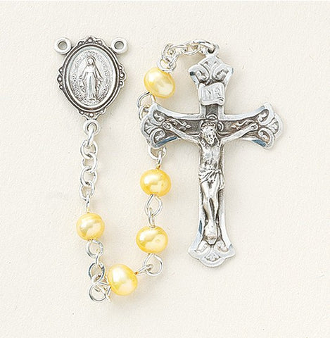 Gold Freshwater Pearl Rosary