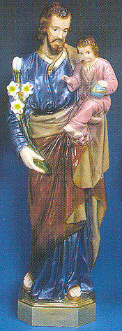 Outdoor Statue - St. Joseph and Child  24""