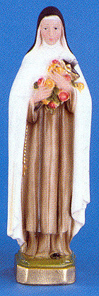 "St. Therese 12"" Italian Plaster Statue"