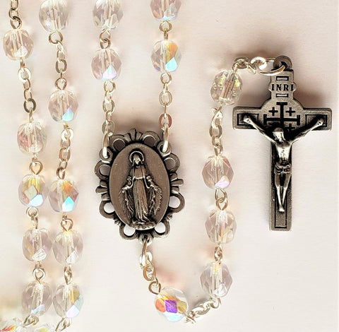 Jesus Relic Crystal Rosary