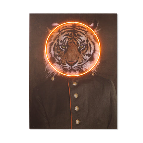 Tiger Portrait - LED Neon
