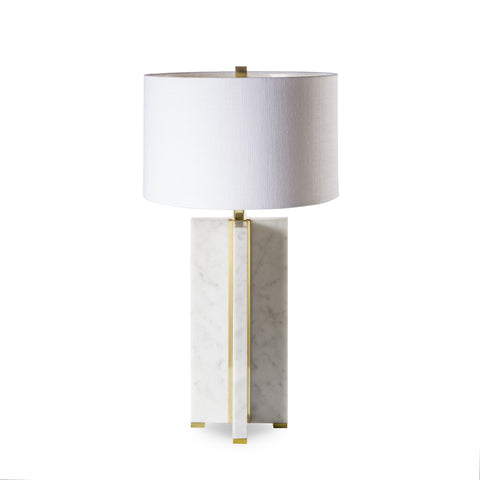 Marble Table Lamp - Cross