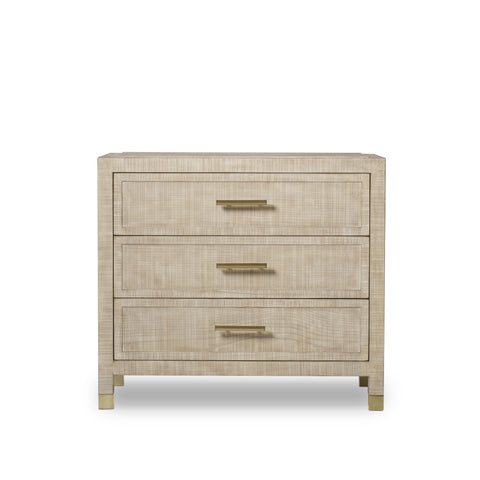 Raffles Nightstand - 3 Drawer / Natural