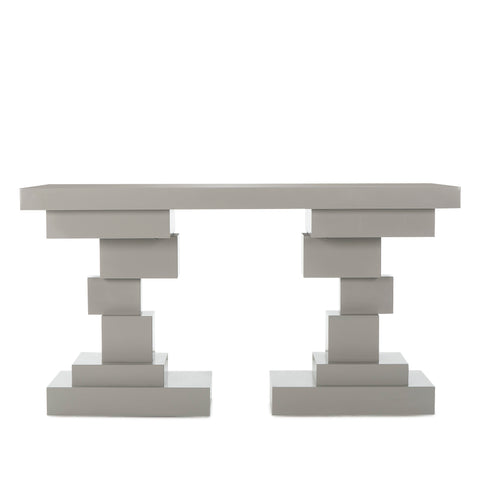 Morgan Console Table - Gray Lacquer