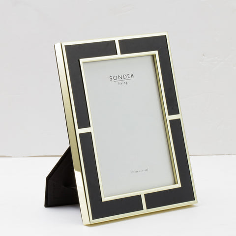 Black Gold Brass Frame