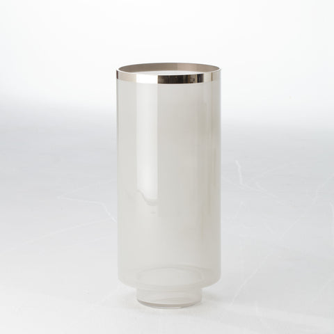 Eve Vase - Grey / Silver Metallic