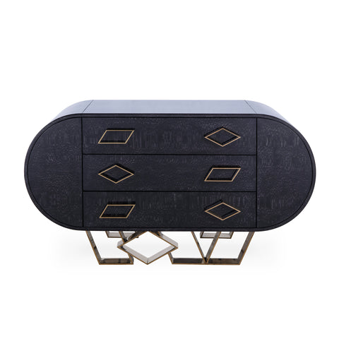 Sting Credenza - Black - Lacewood