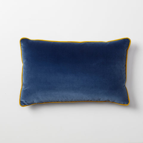 Vana Blue Velvet Throw Pillow