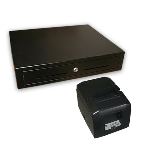 Square Stand Compatible Cash Drawer and Printer