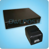Square Stand Compatible Cash Drawer and Printer for iPad