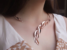 Open Rose Gold Olive Leaf Collar Necklace - Valuli Necklace