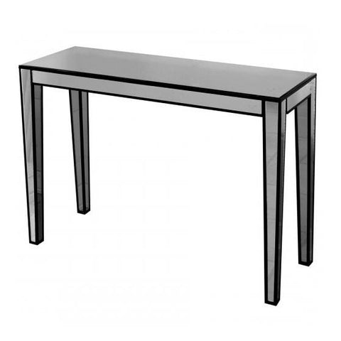 Smoke Grey Mirror Console Table