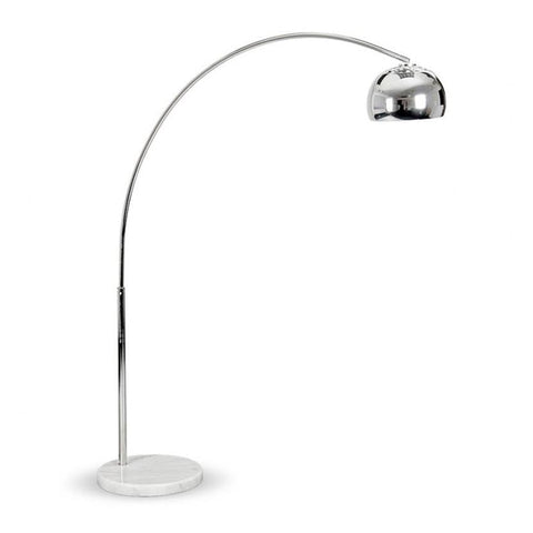 NY CURVED FLOOR LAMP WITH BLACK BLOCK MARBLE BASE