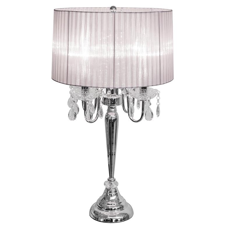 Bellaire Silver Four Light Chandelier Table Lamp – Glam Home Store