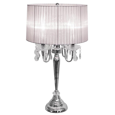 bellaire silver four light chandelier table lamp - Chandelier Table Lamp