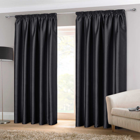 Faux Silk Eyelet Curtains- Purple