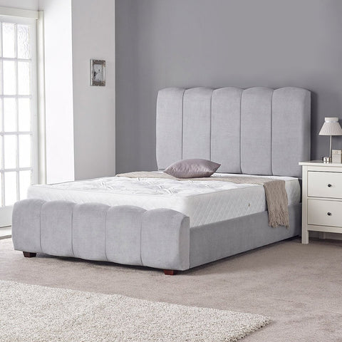 Chloe Grey Cushioned Bed