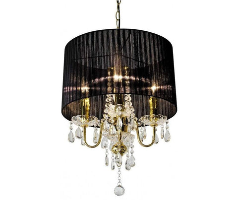 Palmela Black & Gold Four Light Chandelier Ceiling Light
