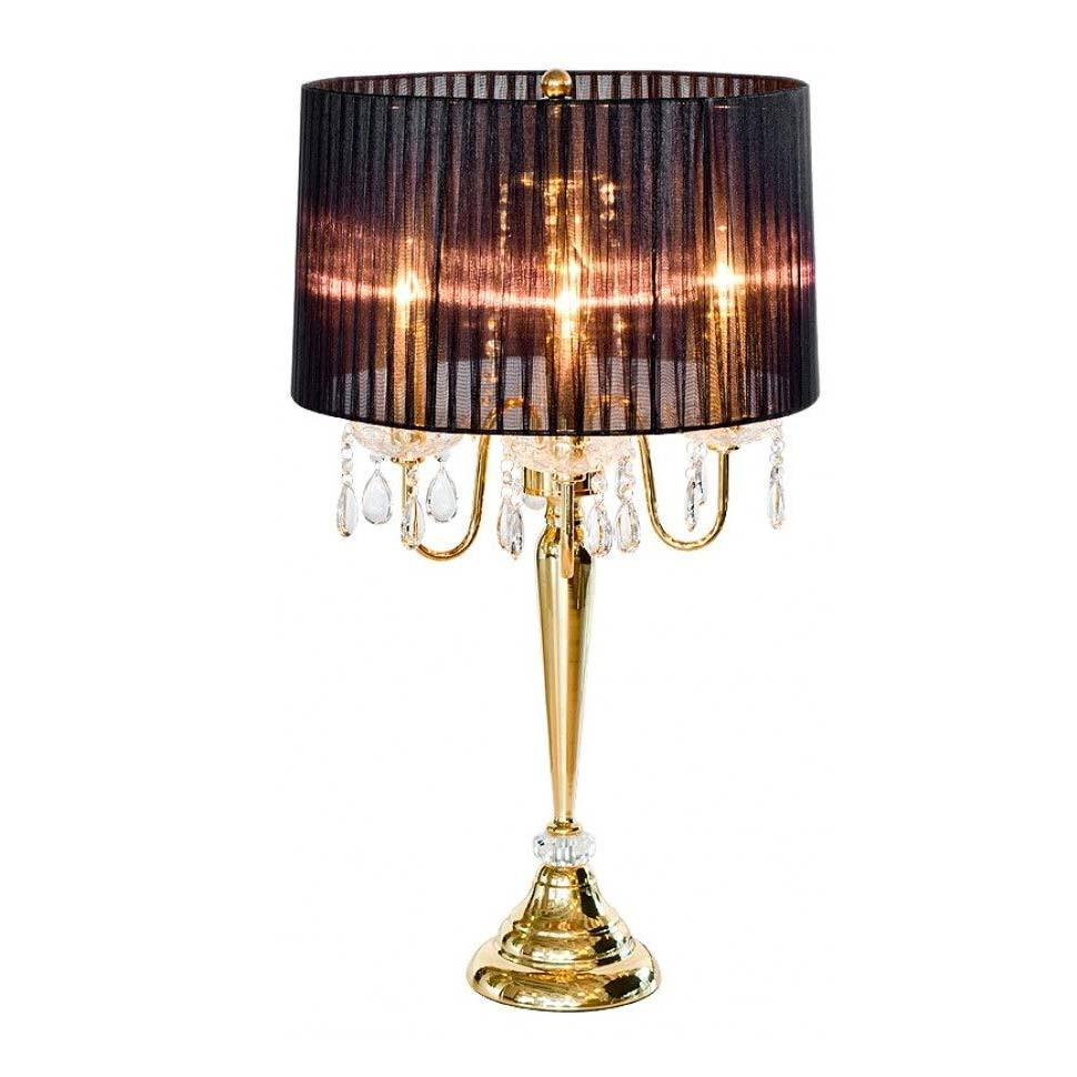 Peniche Black U0026 Gold Four Light Gold Chandelier Table Lamp