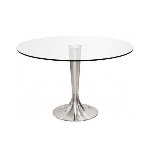 Portimao Silver Glass Top Table