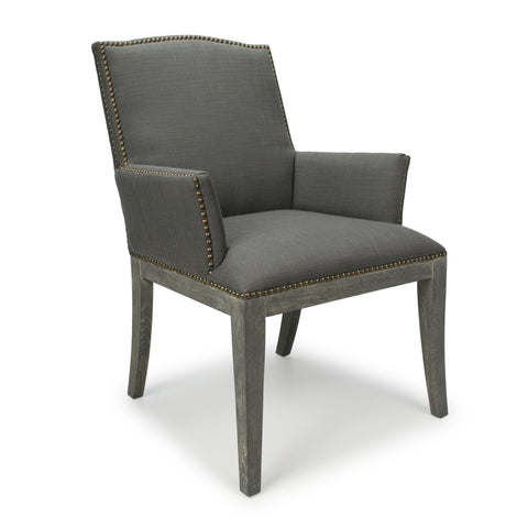 Una Antique Grey Accent Chair