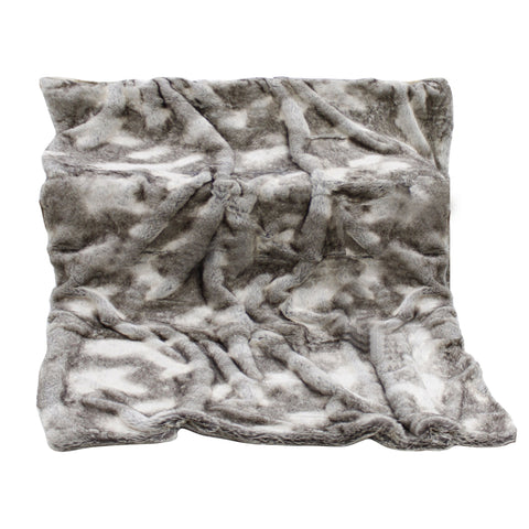 Agostina Brown & Grey Faux Fur Throw