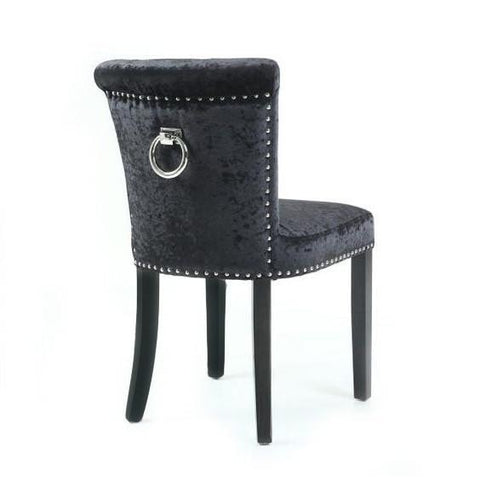 Teesdale Black Velvet Ring Back Chair (Set of 2)