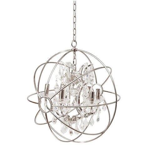 Florence Silver Globe Chandelier Ceiling Light