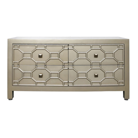 Maleena Gold Geometric Entertainment Unit