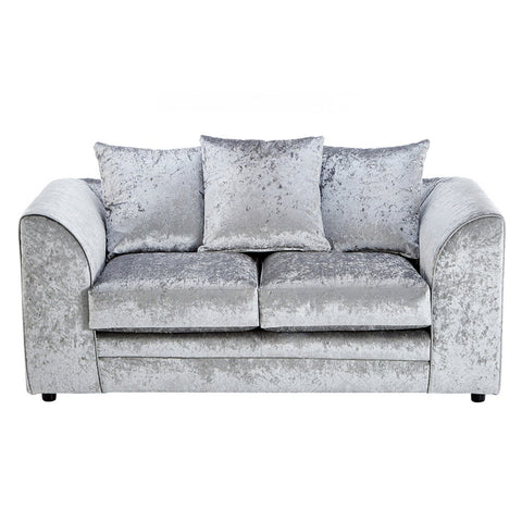 Galaxy Silver Velvet Two Seater Sofa