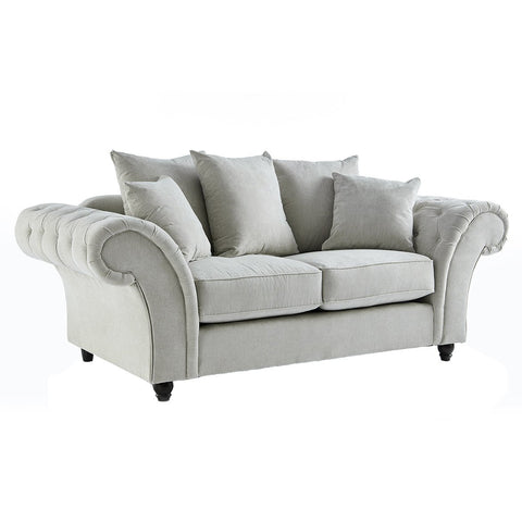 Dove Stone Buttoned Two Seater Sofa