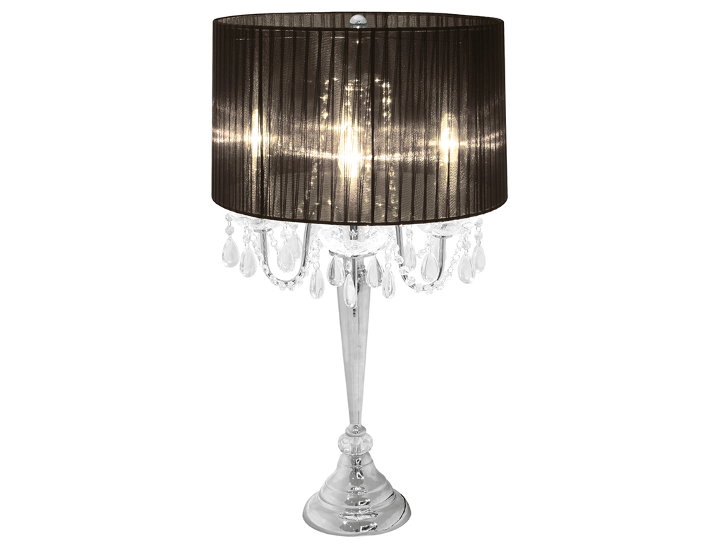 Bellaire White Four Light Chandelier Table Lamp – Glam Home Store