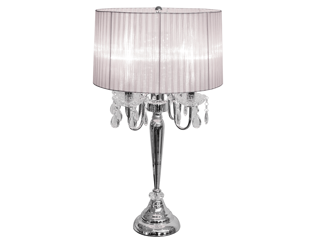 Bellaire White Four Light Chandelier Table Lamp