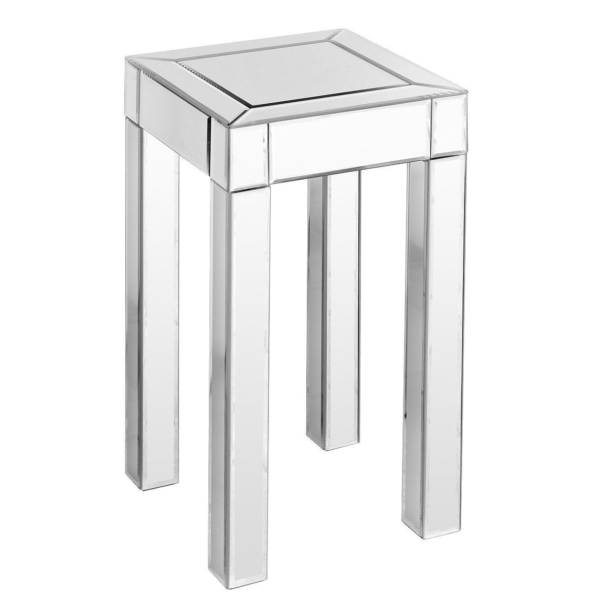 SMALL MIRRORED PEDESTAL TABLE
