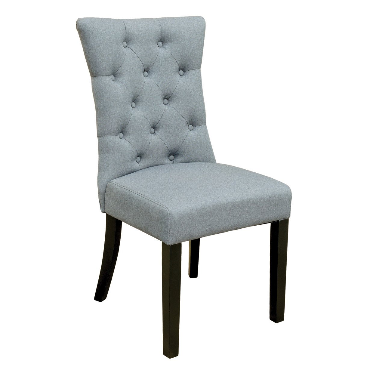 roma grey buttoned dining chair – glam home store - roma grey buttoned dining chair