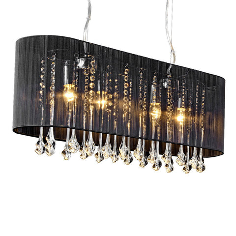 Kensington Black Landscape Crystal Chandelier