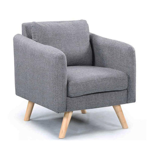Luella Charcoal Grey Fabric Armchair