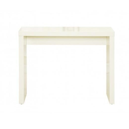 Cream Console Table priya cream high gloss console table – glam home store