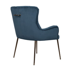 Carrie Caribbean Velvet Occasional Chair