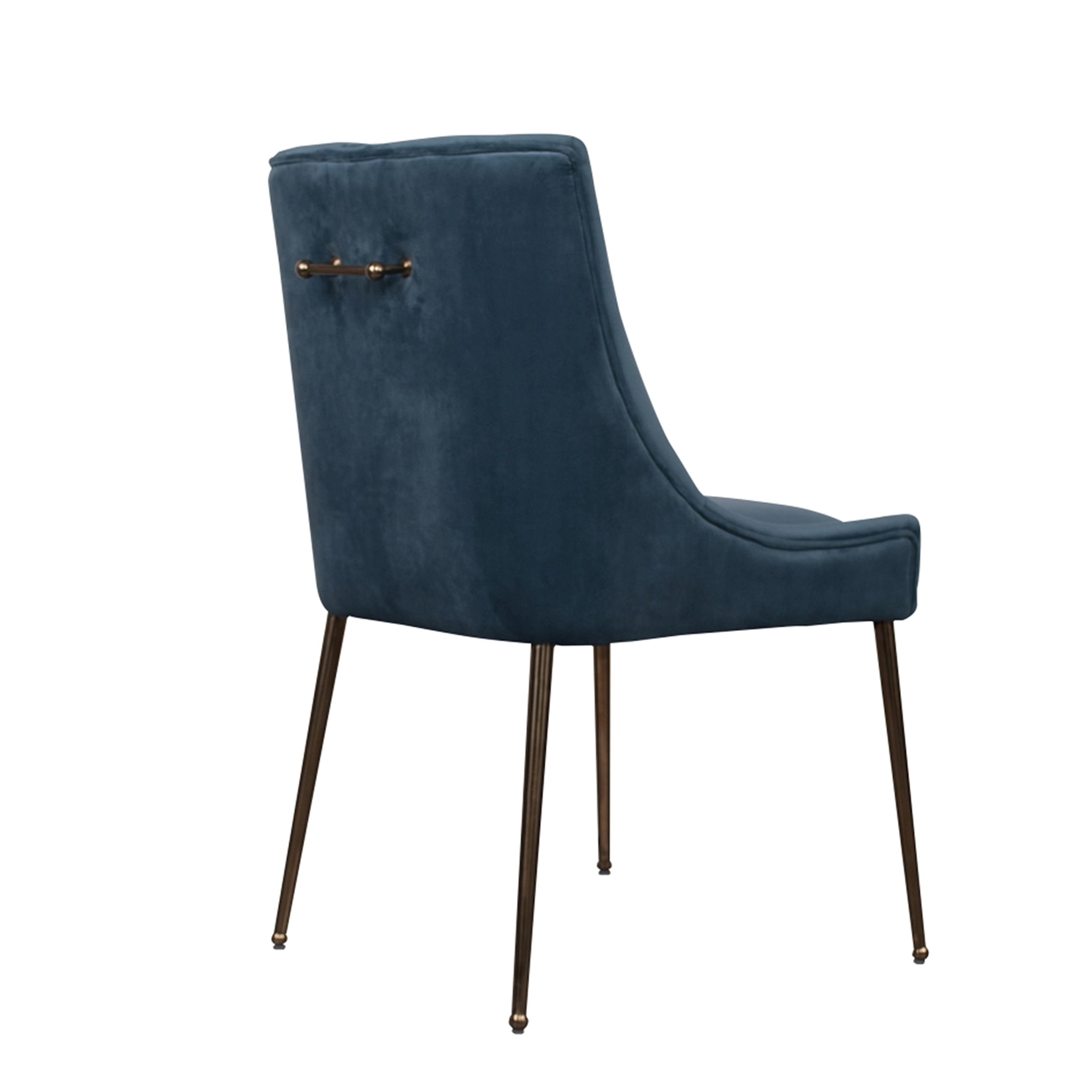 Carrie Caribbean Velvet Dining Chairs (Sold as Pair)