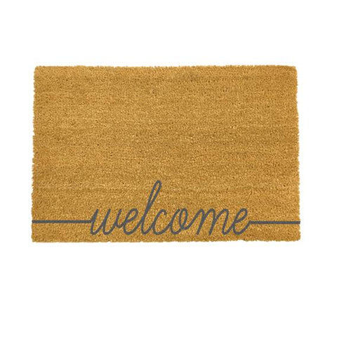 Welcome Grey Doormat