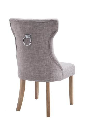 Kiely Knocker Back Chair- Grey