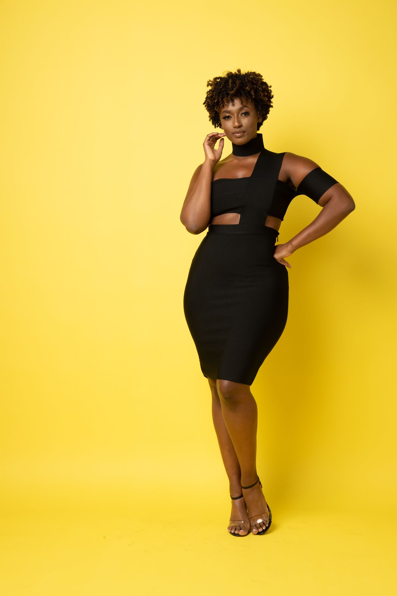 Gothem Bandage Dress Plus Size