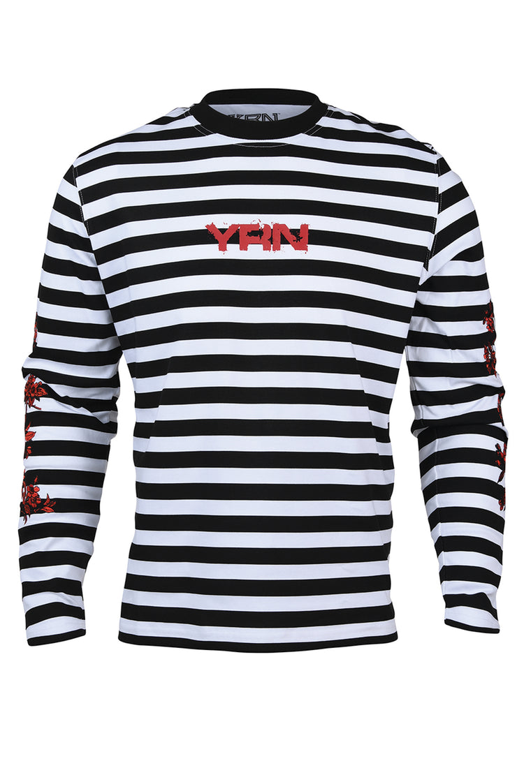 Rose Stripe Long Sleeve