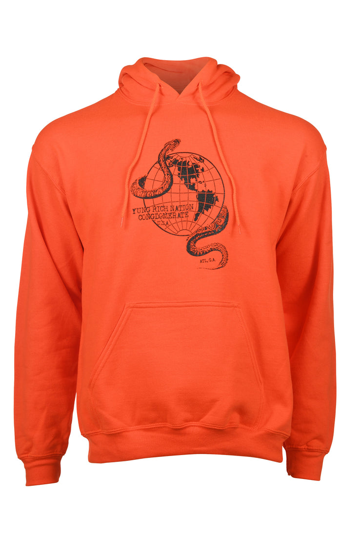 Global Snake Orange Hoodie