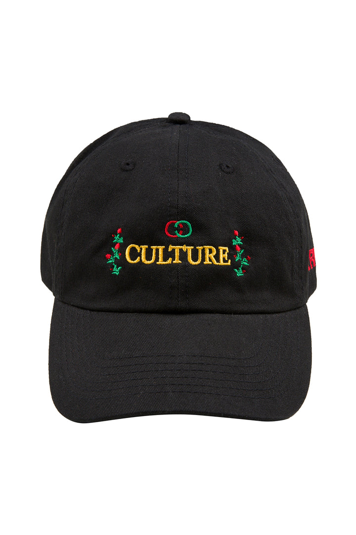 Culture Rose Hat - Black