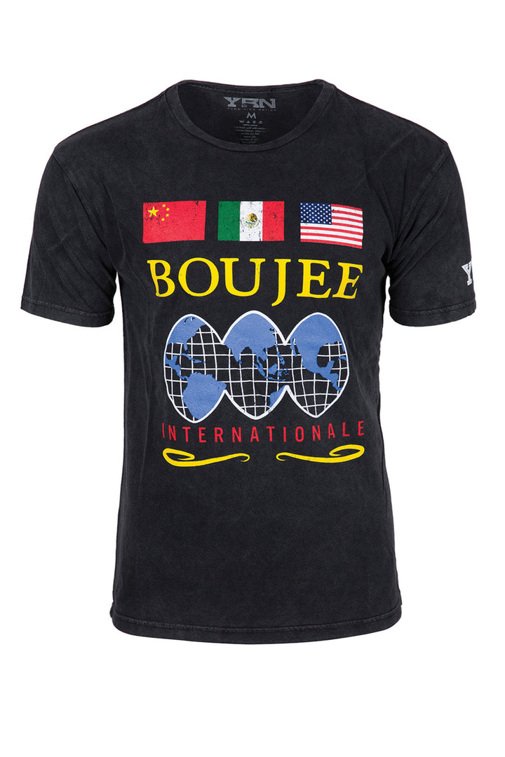 Boujee Internationale Tee - Black