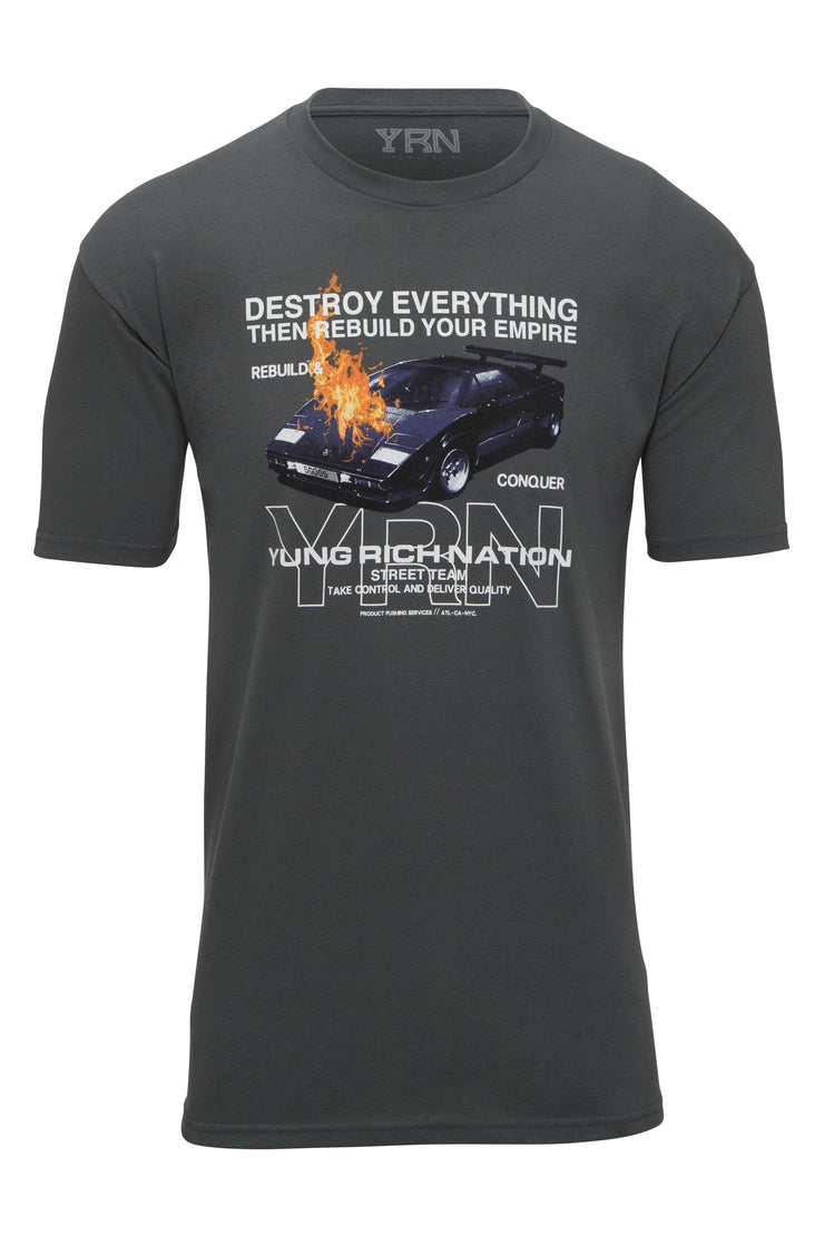 Destruction Tee - Charcoal