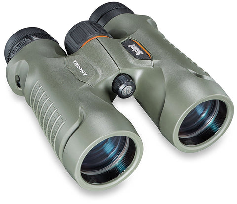 Bushnell Trophy Xtreme Green 10X42 Binocular with Harness and Glass Care Kit 334211 - Audiovideodirect
